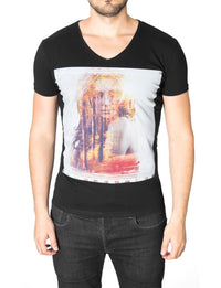 Mens Graphic Tee Beautiful Forest Woman Black (MOD2011VN)