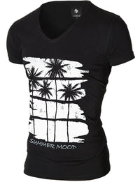 Mens Graphic Tee Summer Mood Black (MOD2012VN)