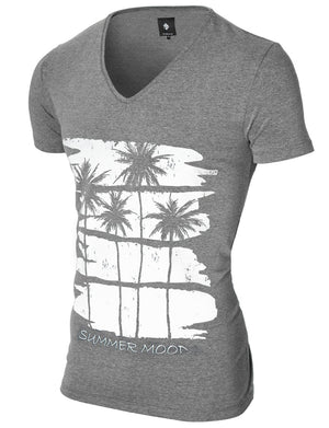 Mens Graphic Tee Summer Mood Dark Gray (MOD2012VN)