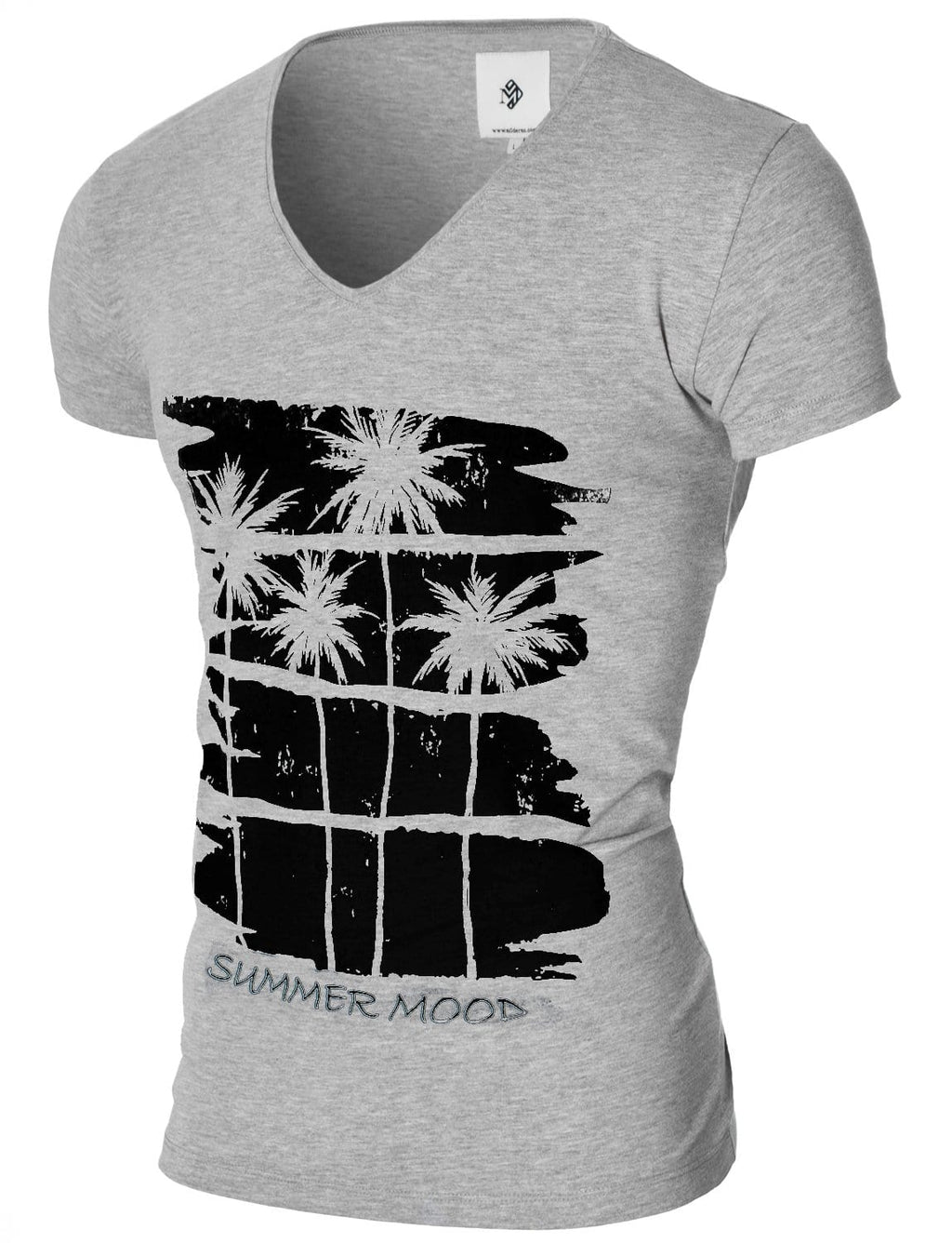 Mens Graphic Tee Summer Mood Gray (MOD2012VN)