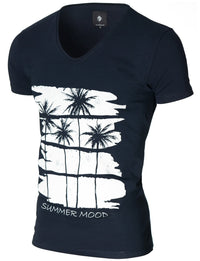 Mens Graphic Tee Summer Mood Navy (MOD2012VN)