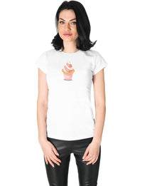 rose graphic tee for women