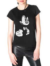 angry mickey mouse tee for women