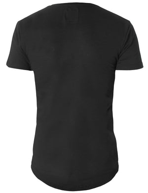 Plain Long T-shirt with Logo