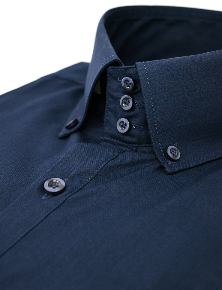 high collar dress shirt