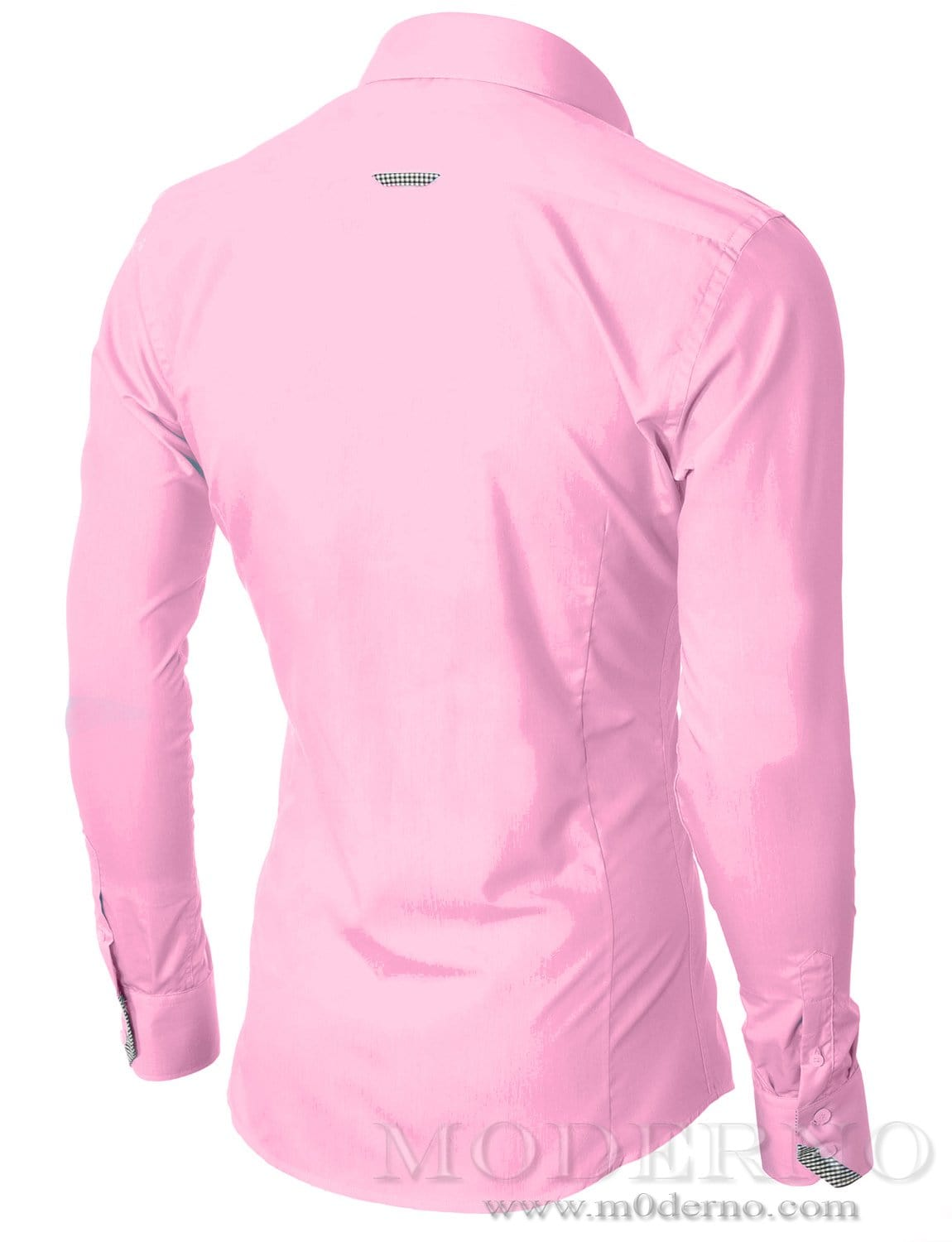 Mens button down pink shirt with one pocket by moderno for Mens pink long sleeve shirt