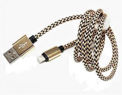 Micro USB Sync Charger Data Cable Premium Metallic Nylon Braided 480-Mbps- Gold - buy26