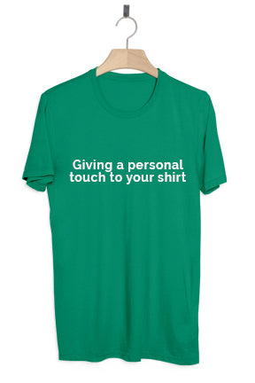 Giving a personal touch to your shirt