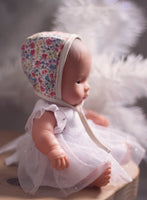 Arabella Dress - White Sparkle for 21, 32 and 38cm Miniland