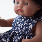 Navy Pinny Dress for 38cm Miniland
