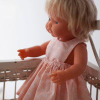 Peach Pinny Dress for 32 and 38cm Miniland