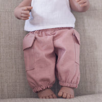 Cargo Pants in Dusty Pink for 38cm miniland