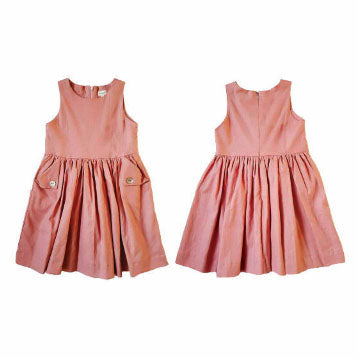 Mae Pocket Dress - Dusty Pink