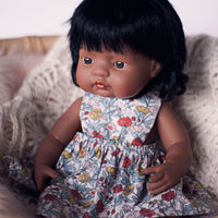 Simple Floral Pinny Dress for 38cm Miniland