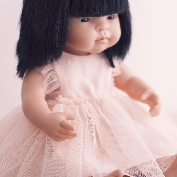 Peach Arabella Dress for 38cm Miniland