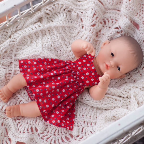 Red Pinny Dress for 32 and 38cm Miniland