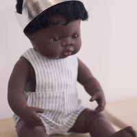 Unisex Natural Stripe Romper for 32 and 38cm Miniland