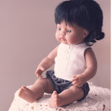 Charcoal Linen unisex bloomers for 21, 32 and 38cm miniland