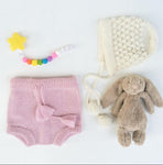 Soft Pink 100% Alpaca Knitted Bloomers