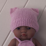 Mustard Fairtrade 100% Alpaca Cat Hat for 21, 32 and 38cm miniland