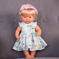 Evie Flutter Dress for 38cm Miniland