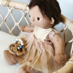 Gold sparkle Arabella dress for Olliella Dinkum doll