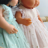 Starry Soft Peach Arabella Dress for 21, 32 and 38cm Miniland