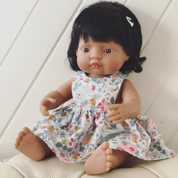 Betsy Pinny Dress for 38cm Miniland