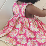 Floral pink Pinny Dress for 38cm Miniland