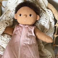 Quilted Velvety Sleeping Bag for Dinkum Doll, 32, 38, and 40cm Miniland