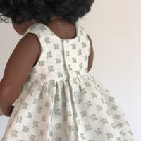 Little Lady Dress in Sage for 38cm Miniland