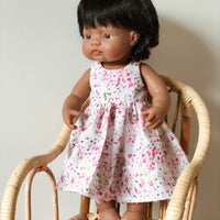 Maxi length Little Lady Spring Floral Dress for 38cm Miniland