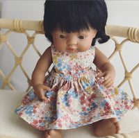 Sakura Floral Pinny Dress for 32 and 38cm Miniland
