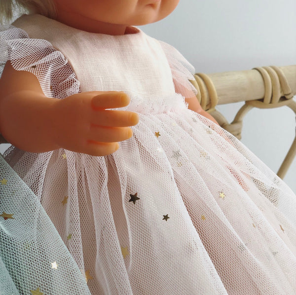 Starry Soft Peach Arabella Dress for 38cm Miniland