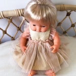 Gold Sparkle Arabella dress for 38cm Miniland