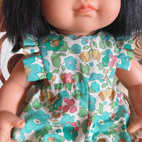 Betsy Teal Liberty of London Frill Romper for 38cm Miniland
