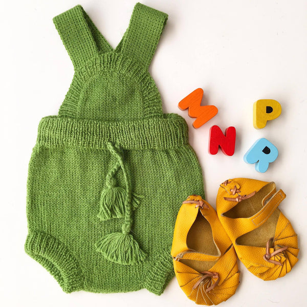 Apple Green Knitted Romper