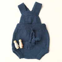 Inky Teal Knitted Romper