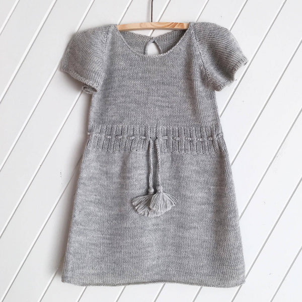 Knitted 100% Alpaca Silver Tassel Dress