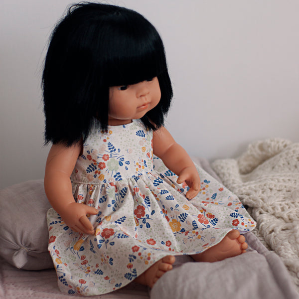 Little Lady Dress in Bouquet for 38cm Miniland