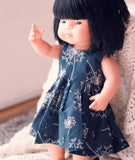 Little Lady Dress in Dandelion for 38cm Miniland