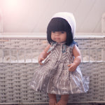 Little Lady Dress in Original My Tribe of Three Linen for 38cm Miniland