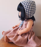 Little Lady Dusty Pink Linen Dress for 38cm Miniland