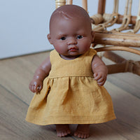 Little Lady Dress in Mustard for 21 and 38cm Miniland