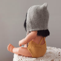 Mustard Fairtrade 100% Alpaca Romper for 21, 32 and 38cm miniland