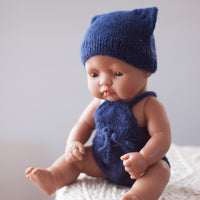 Navy Fairtrade 100% Alpaca Romper for 21, 32 and 38cm miniland