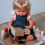 Dark Chambray Overalls for Dinkum Doll and 38cm Miniland