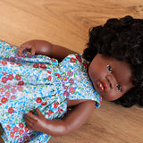 Bold Blue Pinny Dress for 38cm Miniland