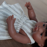 Retro Stripe Pinny Dress for 38cm Miniland