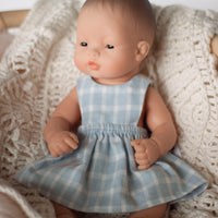 Soft Gingham Pinny Dress for 32cm and 38cm Miniland